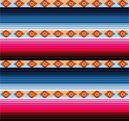 Patrón de manta mexicana sin costuras Ilustración de vector