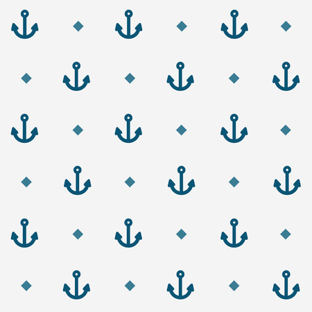 Seamless Nautical Anchor Pattern