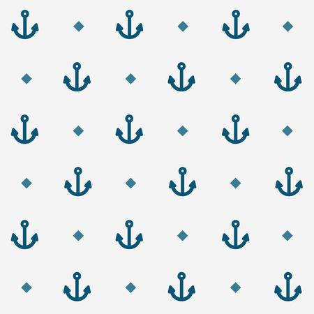 Seamless Nautical Anchor Pattern