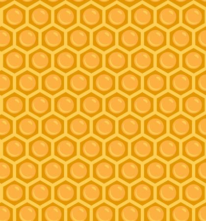 A Seamless Honeycomb Pattern Illusztráció