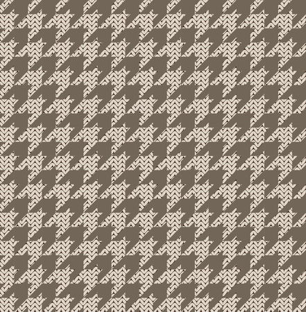 Knitted houndstooth seamless pattern.
