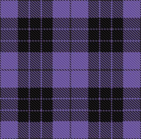 Seamless Tartan Ultra Violet Pantone Pattern Illustration