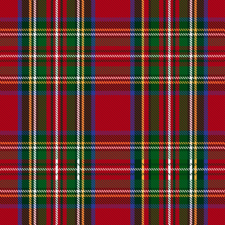 A Seamless Tartan Pattern isolated on plain bAckground Stock fotó - 97616982