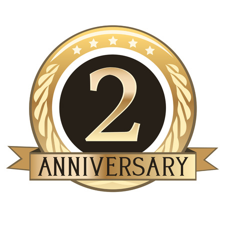 Two Year Anniversary Gold Badge