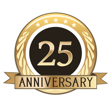 Twenty Five Year Anniversary  Gold Badge