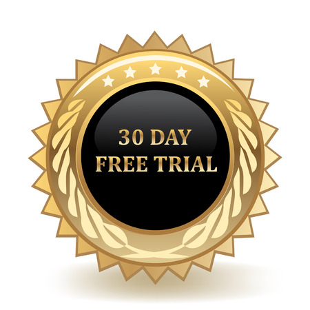 Thirty Day Free Trial Gold Badge