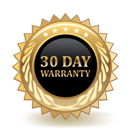 Thirty Day Warranty Gold Badge