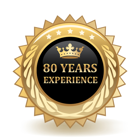 Eighty Years Experience Gold Badge