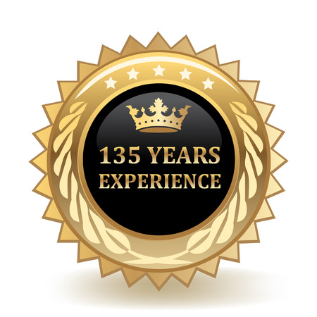 One Hundred And Thirty Five Years Experience Gold Badge