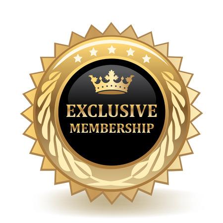 Exclusive Membership Gold Badge