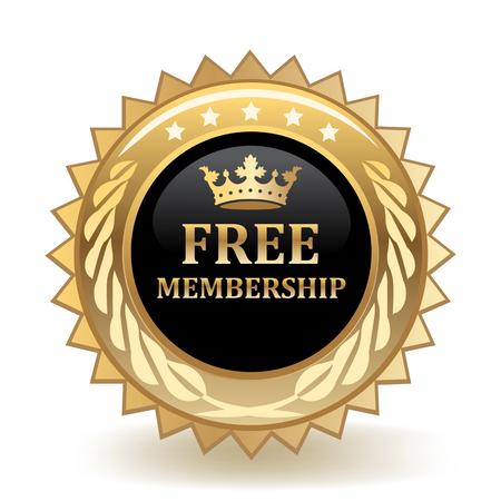 Free Membership Gold Badge
