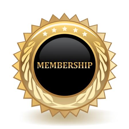 Membership Gold Badge Vetores