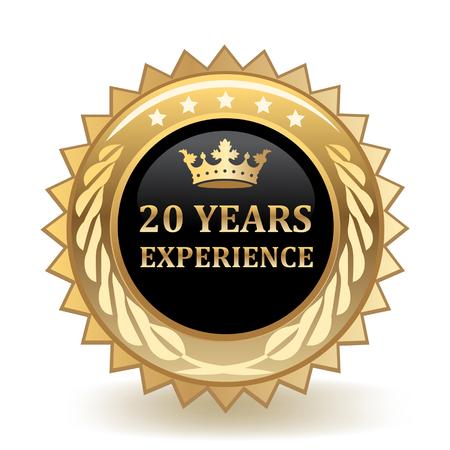 Twenty Years Experience Gold Badge