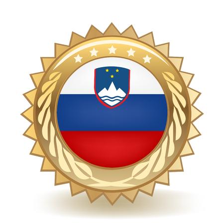 Flag of Slovenia gold badge.
