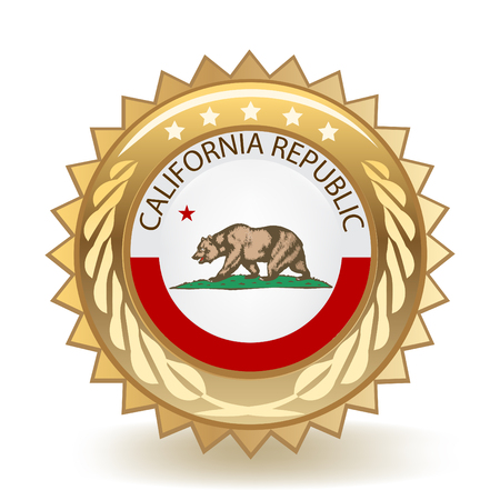State Of California Gold Badge