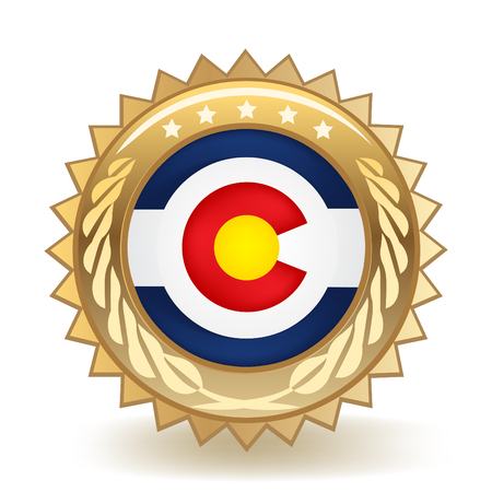State Of Colorado Gold Badge