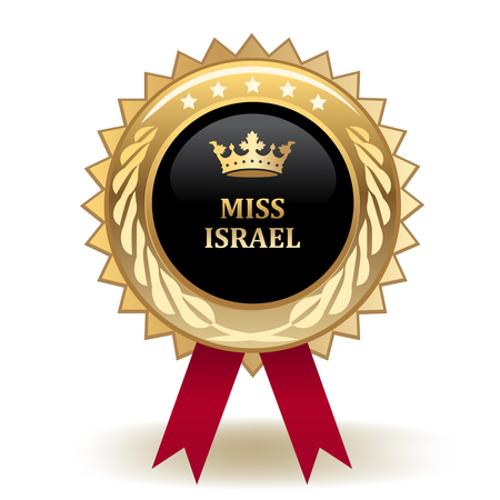 Miss Israel Golden Award Badge