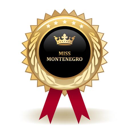 Miss Montenegro Golden Award Badge