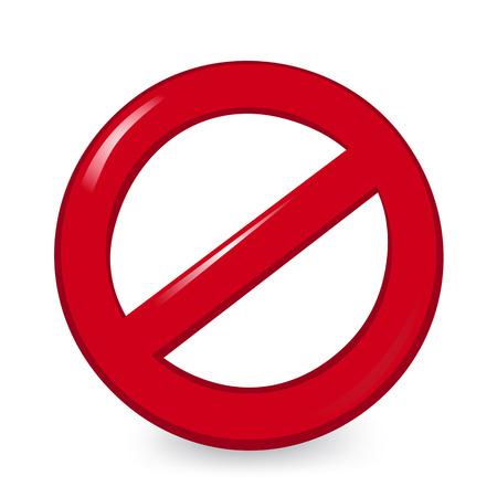 Illustration vectorielle de signe interdit Banque d'images - 98626365