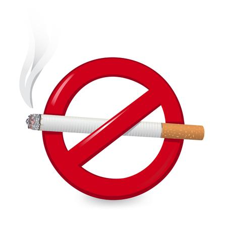 No Smoking Sign vector illustration Banque d'images - 98626372