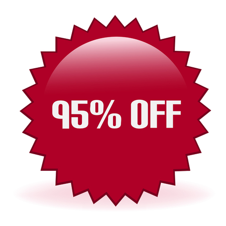 Ninety Five Percent Off Sticker