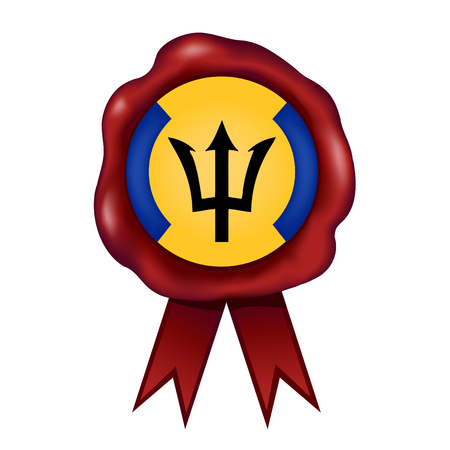 Flag Of Barbados Wax Seal