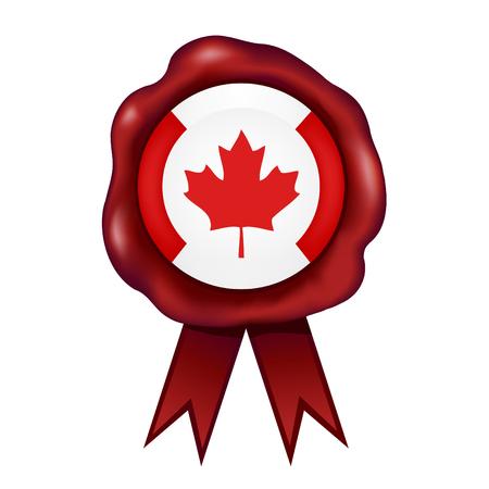 カナダの旗ワックスシールベクトルイラスト。 写真素材 - 98731137