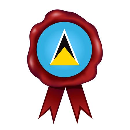 Flag Of Saint Lucia Wax Seal