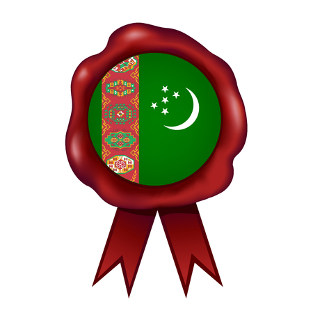 Flag Of Turkmenistan Wax Seal