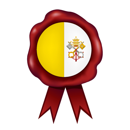 Flag Of Vatican City Wax Seal