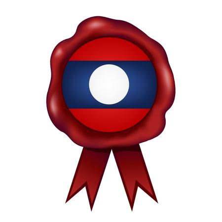 Flag Of Laos Wax Seal