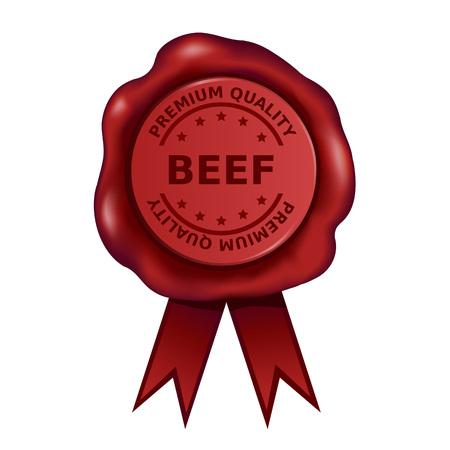 Premium Quality Beef Wax Seal Vector illustration.