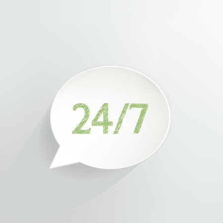 Twenty Four Seven Speech Bubble