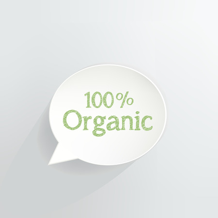 Hundred Percent Organic Speech Bubble