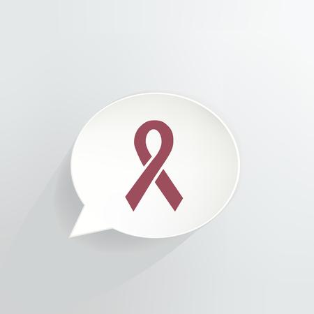 Red Ribbon Speech Bubble