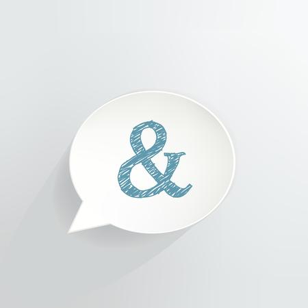 Ampersand Speech Bubble