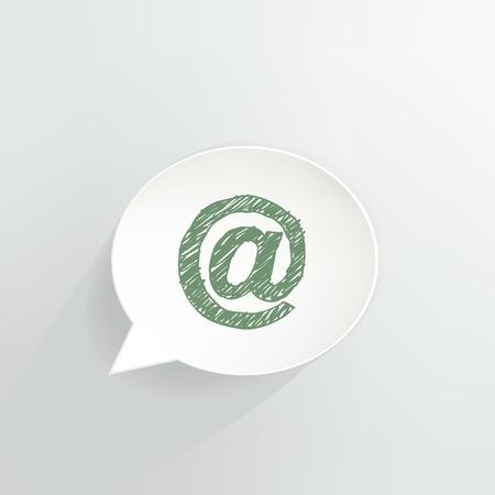 At Symbol Speech Bubble