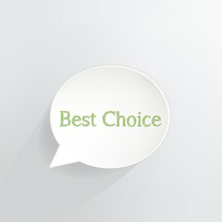 Best Choice Speech Bubble