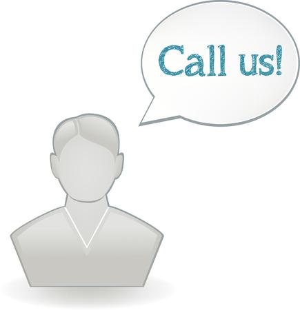 Call Us Icon Ilustrace