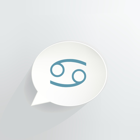 Cancer Zodiac Sign Speech Bubble