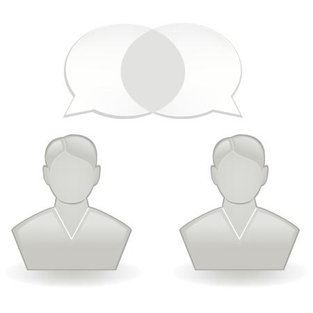 Chatting Icon Ilustrace
