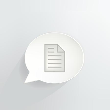 Paper Document Speech Bubble