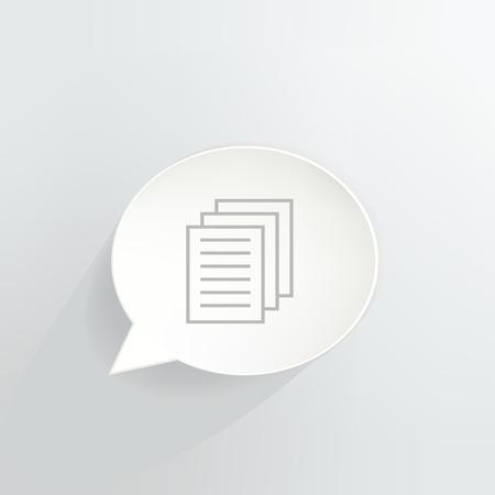Documents Speech Bubble Ilustrace