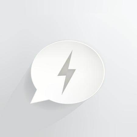 Lightning Bolt Speech Bubble Ilustrace
