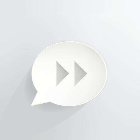 Fast Forward Speech Bubble