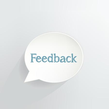 Feedback Speech Bubble vector illustration design.