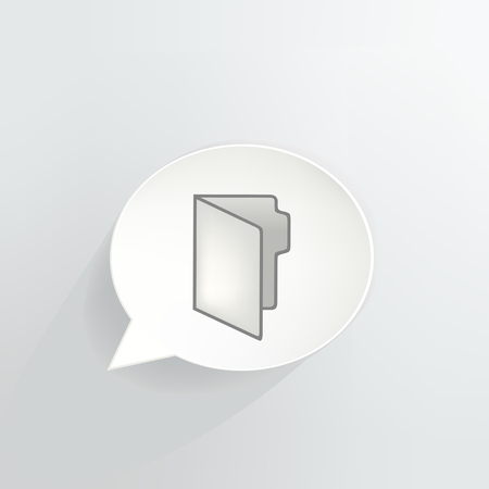 Folder Speech Bubble vector illustration design.