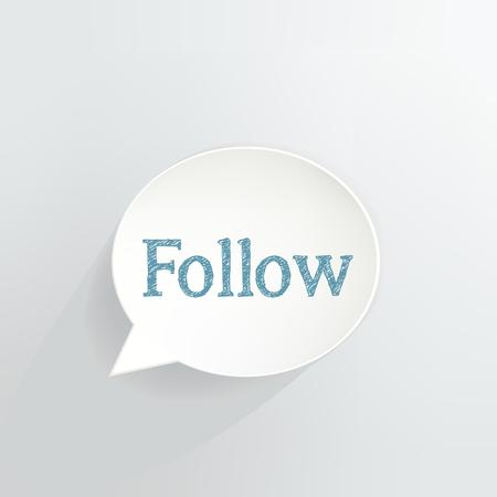 Follow Speech Bubble vector illustration design. Ilustrace