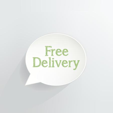 Free Delivery Speech Bubble vector illustration design.
