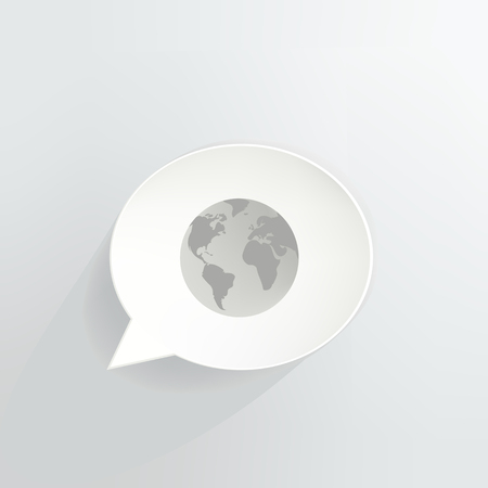 Global Speech Bubble vector illustration design.